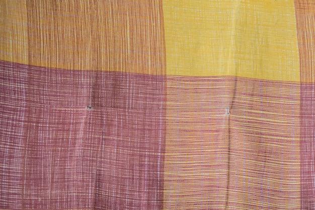 Texture à carreaux en tissu. fond de tissu