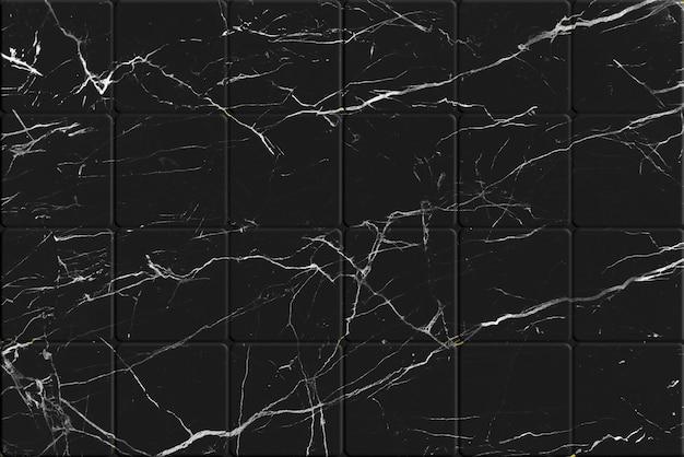 Texture de carrelage en marbre noir craquelé