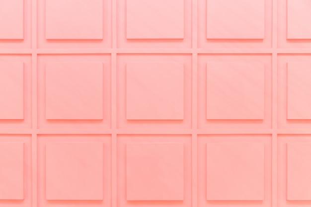 Texture des carrés roses sur le mur. détail de l'intérieur