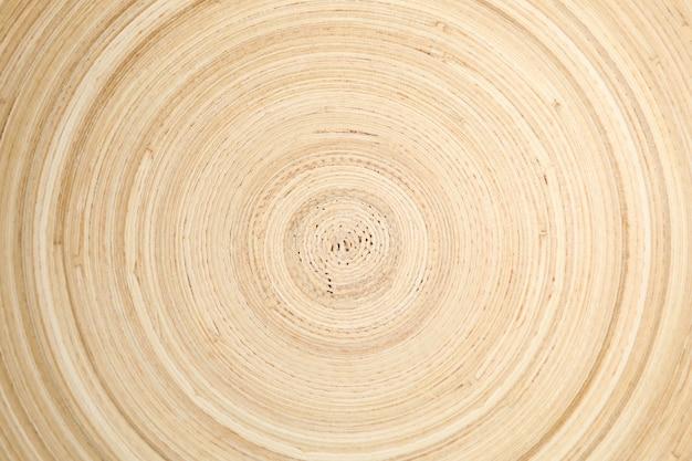 Texture de cercle de bol en bois