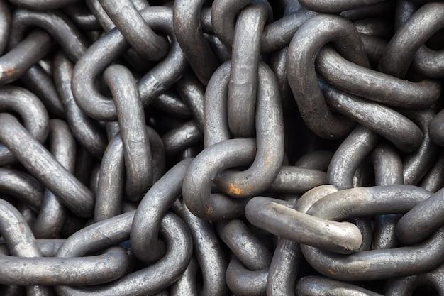 Texture de la chaîne en métal