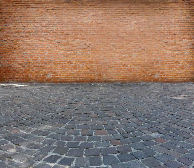 La texture de la chaussée en pierre ancienne