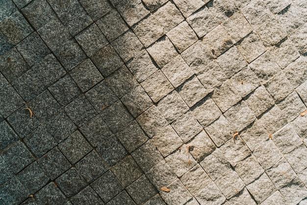 Texture de chaussée en pierre grise