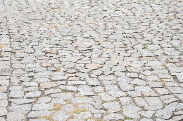 Texture de la chaussée en pierre