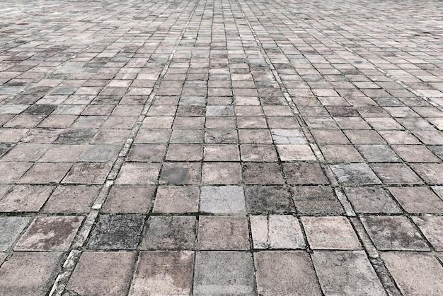 Texture de chaussée de rue en pierre vintage