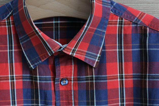 Texture d'une chemise de flanelle dans une cage close up