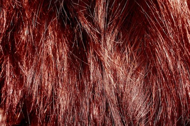 Texture de cheveux roux