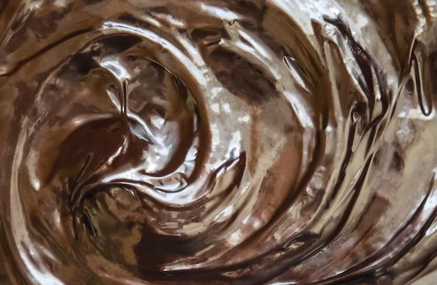 Texture chocolat. chocolat noir et au lait. mise au point sélective.