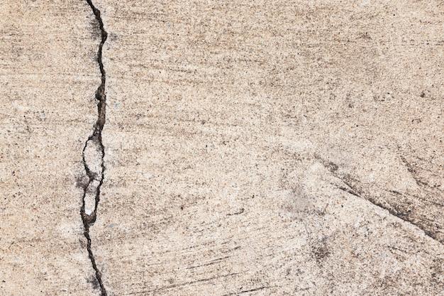 Texture de ciment fissuré sur fond de plancher ou mur.