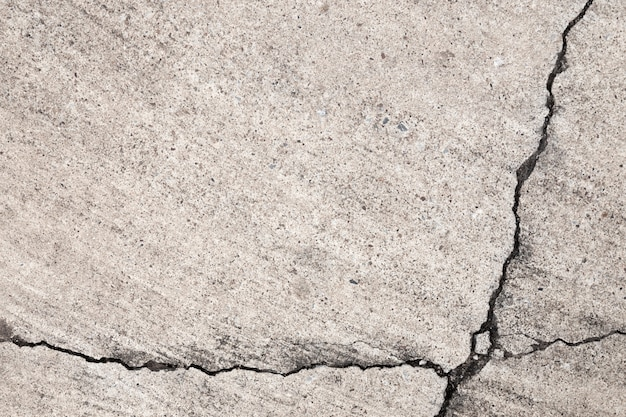 Texture de ciment fissuré sur fond de plancher et mur.