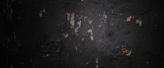 Texture de ciment d'horreur. grunge fond effrayant. mur béton vieux noir