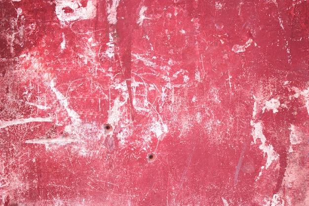 Texture de ciment rouge, surface en béton du mur, fond coloré