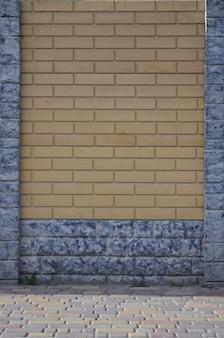 La texture d'une clôture de béton moderne sous la forme de maçonnerie soignée