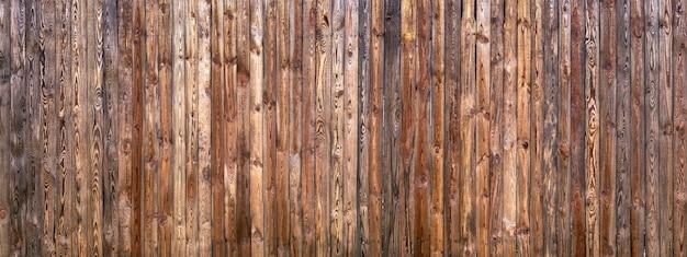 Texture de clôture en bois ancienne brune
