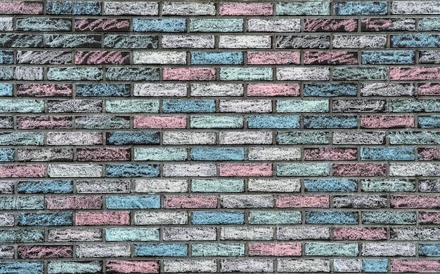 Texture colorée d'un mur de briques