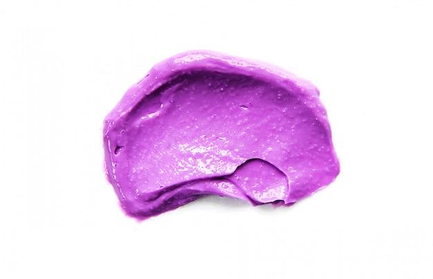 Texture cosmétique pour le visage et le corps. spa mise au point sélective.