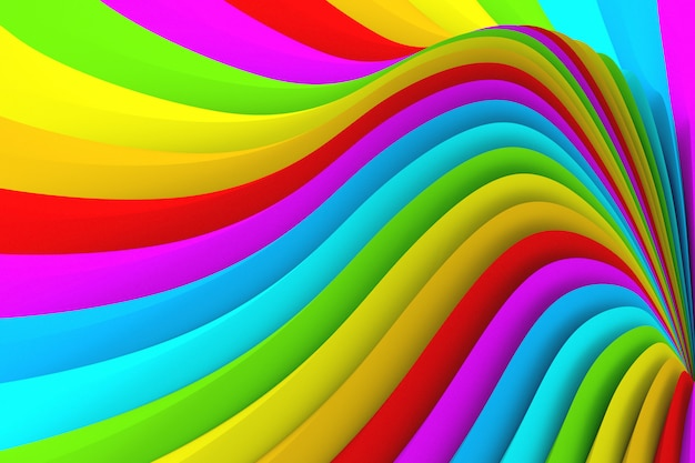 Texture de couleur abstraite de nombreuses rayures ondulées de couleurs différentes