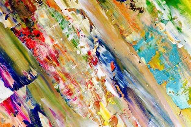 Texture de couleur. peinture à l'huile dessinée à la main sur toile