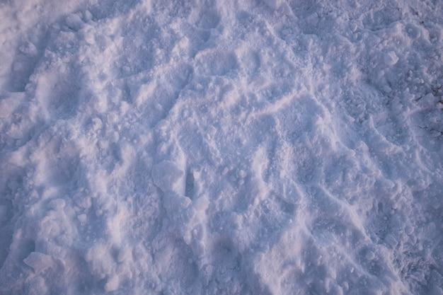 Texture couverte de neige en hiver