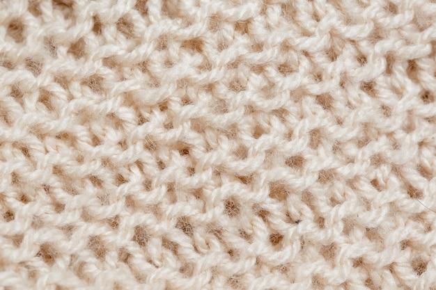 Texture de la couverture tricotée. surface textile abstraite