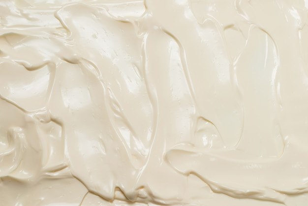 Texture de crème fouettée blanche. vue de dessus.