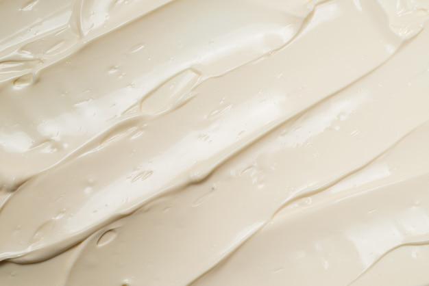 Texture de crème fouettée blanche