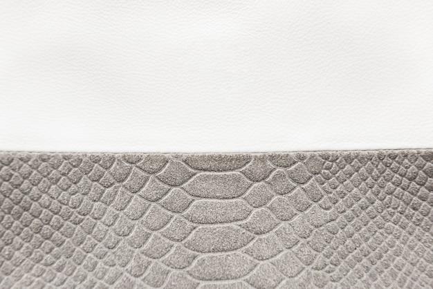 Texture cuir blanc et gris avec espace copie