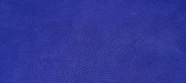 Texture en cuir bleu