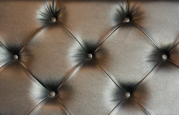 Texture de cuir marron closeup du canapé