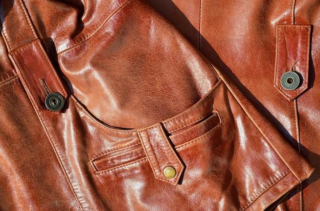 Texture de cuir marron.