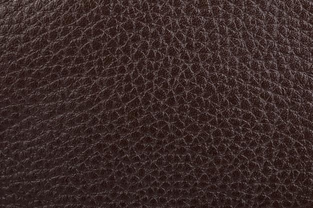 Texture de cuir naturel marron foncé