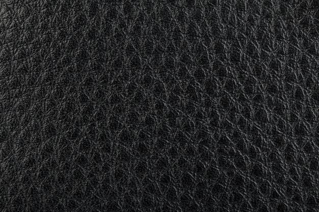 Texture de cuir naturel noir