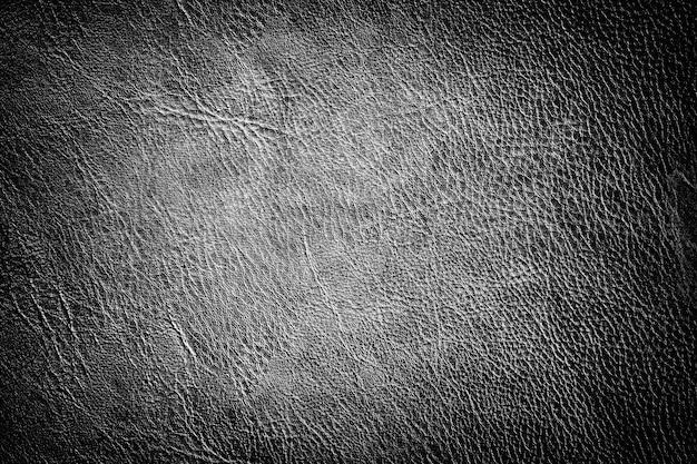 Texture En Cuir Noir Avec Lumière Dégradée. Espace Pour Le Texte Photo Premium