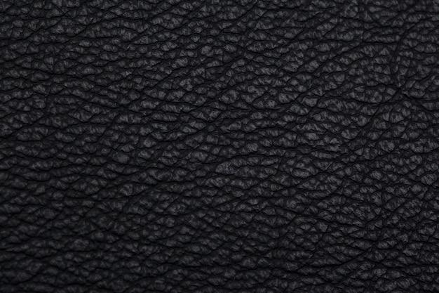 Texture de cuir noir naturel