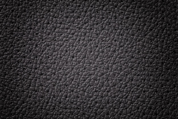 Texture de cuir noir perforé avec cadre dégradé
