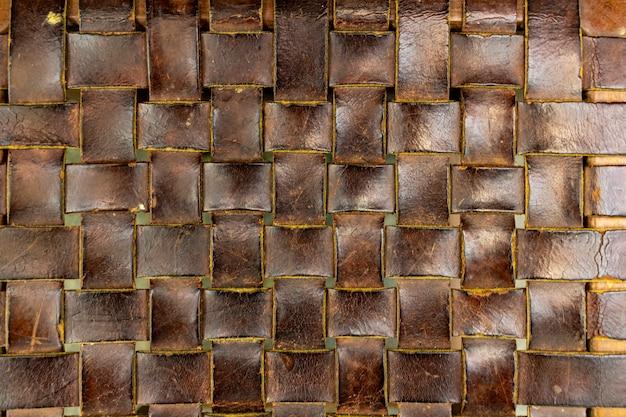 Texture cuir tressé. support de chaise.