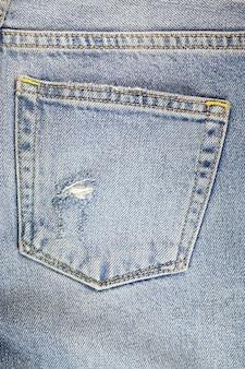 Texture déchirée de jeans, texture de déchirure de denim.