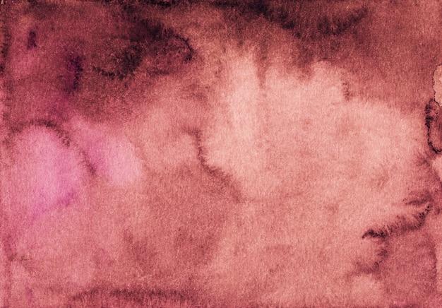 Texture dégradé aquarelle fond rouge profond. aquarelle abstrait vieux fond rouge foncé.