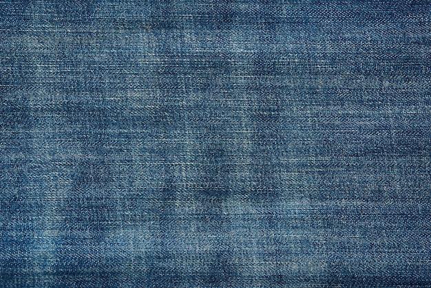 Texture denim bleu, tissu à coudre, plein cadre, gros plan