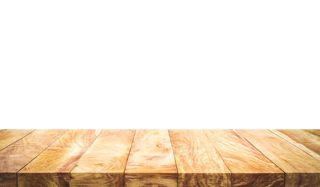 Texture de dessus de table en bois belle texture isolée