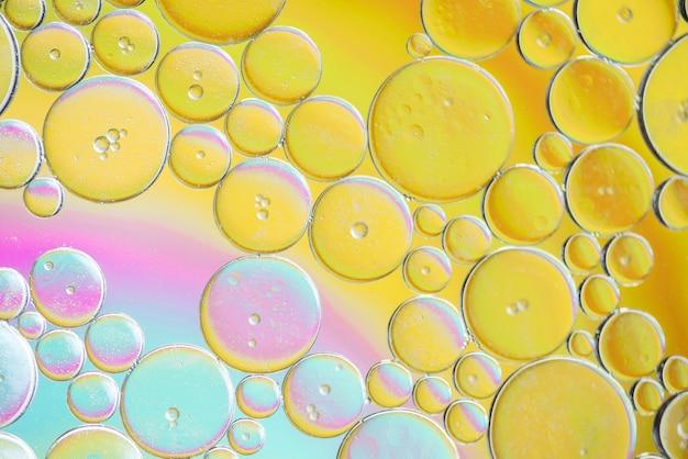 Texture de différentes bulles abstraites colorées