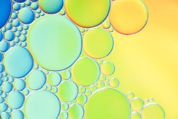 Texture de différentes bulles abstraites multicolores