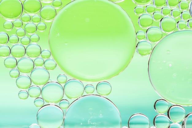 Texture de différentes bulles abstraites vertes et bleues