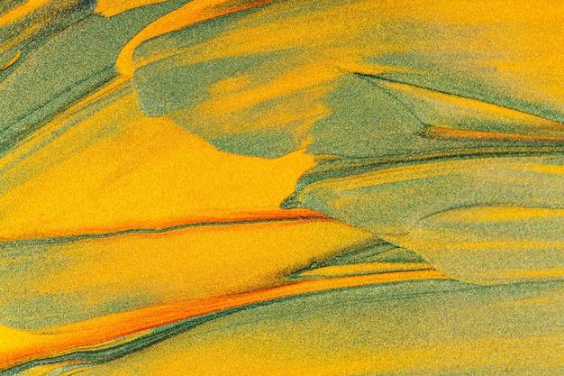 Texture dorée orange verte. fond multicolore décoratif avec des étincelles. fond abstrait