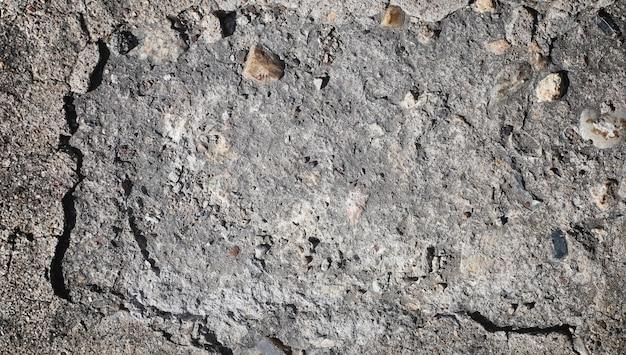 Texture du béton. fond d'asphalte. surface de la route. texture d'asphalte et de pierres sur la route.