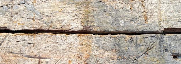 Texture du bois ancien, fond en bois ancien avec une bannière de structure vintage