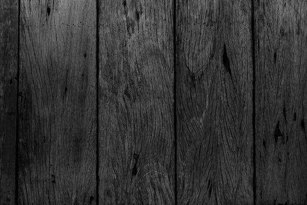 Texture du bois noir pour la conception et l'arrière-plan