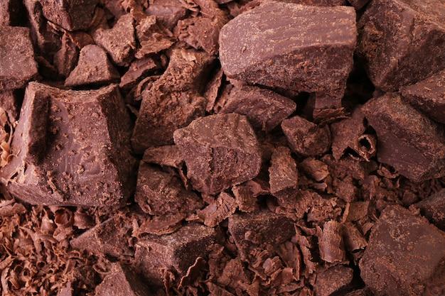 La texture du chocolat noir naturel