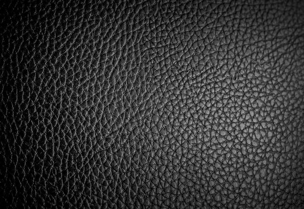 La texture du cuir noir peut être utilisée comme arrière-plan