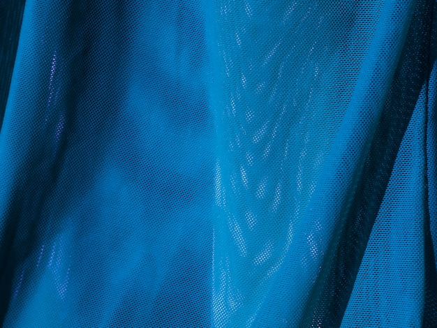 Texture du matériau bleu gros plan